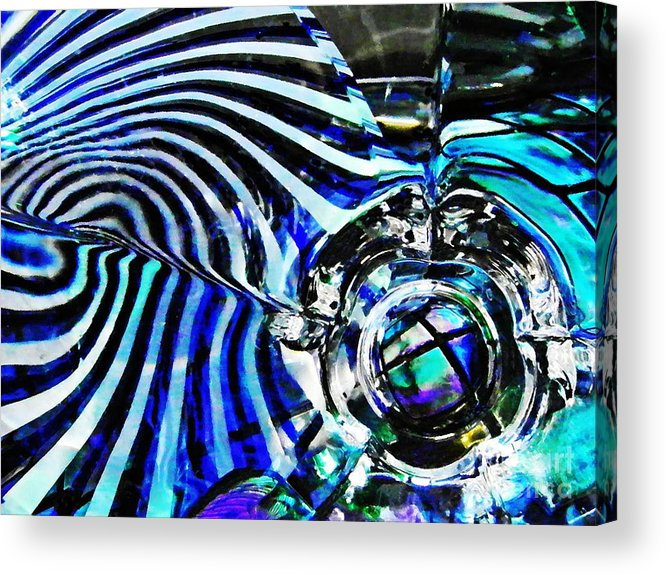 Abstract Acrylic Print featuring the photograph Glass Abstract 132 by Sarah Loft