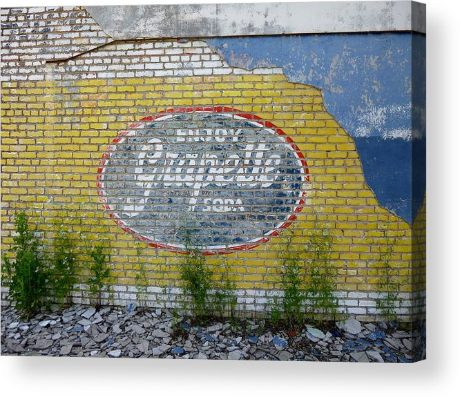 Grapette Soda Acrylic Print featuring the photograph Grapette Sign by Kay Sparks