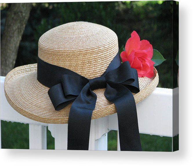 Hats Acrylic Print featuring the photograph Hats Off To Summer by Angela Davies