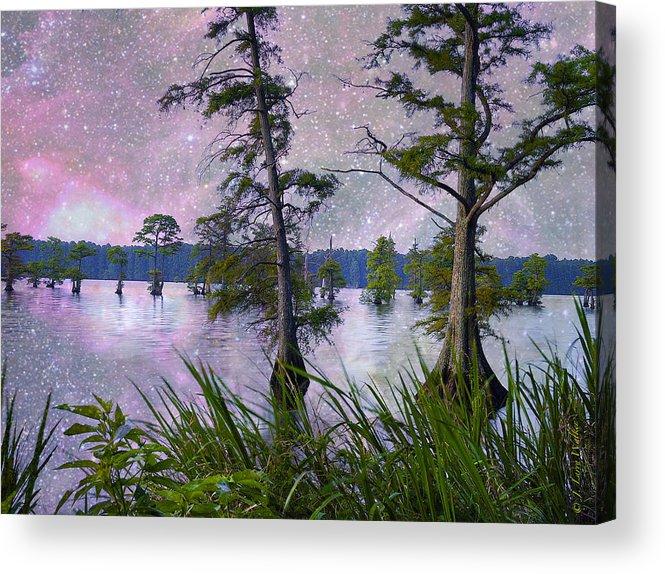 J Larry Walker Acrylic Print featuring the digital art Heavenly Sunrise by J Larry Walker