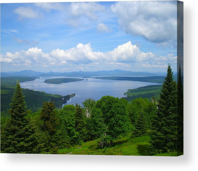Landscape Acrylic Print featuring the photograph Height Of The Land A2 by George Ramos