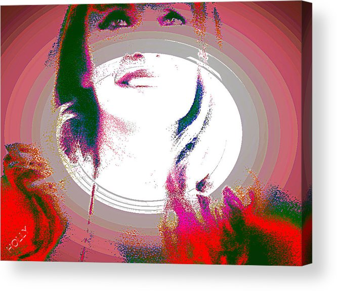 Faces Acrylic Print featuring the digital art Holly by HollyWood Creation By linda zanini