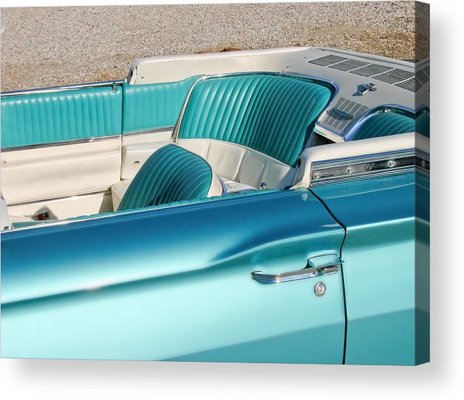 Mustang Acrylic Print featuring the photograph Hop Into The T-bird Convertible by Matthew Bamberg