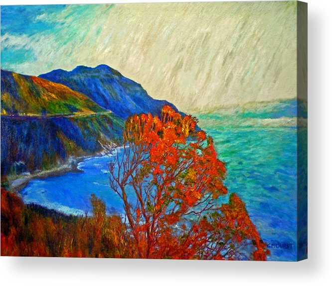 Seascape Acrylic Print featuring the painting Hout Bay by Michael Durst