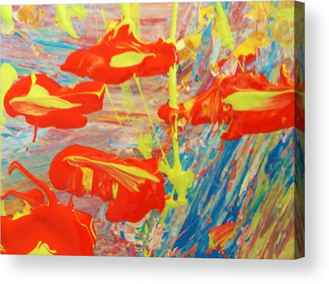 Original Acrylic Print featuring the painting If Men Had Wings Women Would Fly by Artist Ai