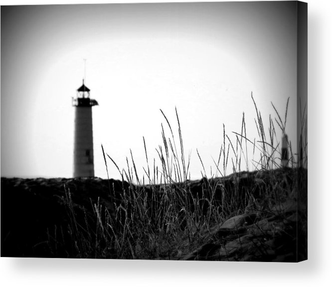 Kenosha North Pier Lighthouse Acrylic Print featuring the photograph Kenosha North Pier Lighthouse by Kay Novy