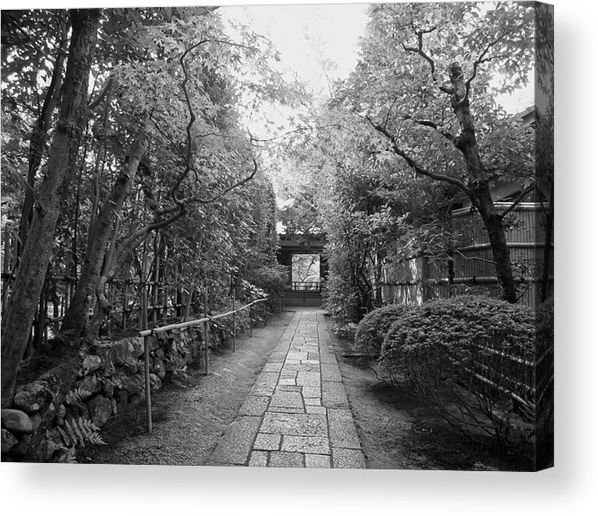 Samurai Acrylic Print featuring the photograph Koto-in Temple Stone Path by Daniel Hagerman