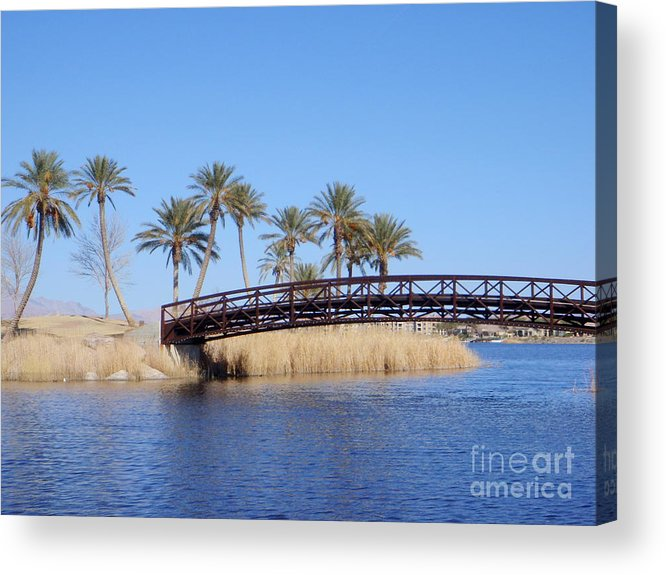 Las Vegas Acrylic Print featuring the photograph Lake Las Vegas by Mary Deal