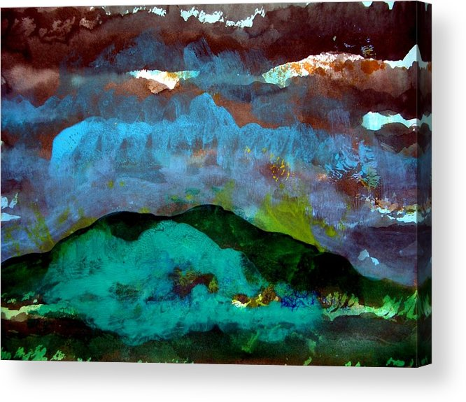 Acrylic Acrylic Print featuring the painting Landscape 130408-3 by Aquira Kusume