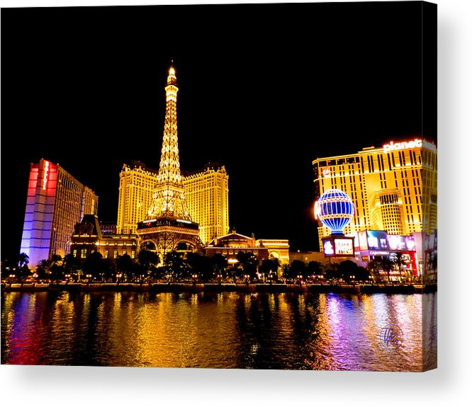 Paris Las Vegas Hotel And Casino Acrylic Print featuring the photograph Las Vegas 012 by Lance Vaughn