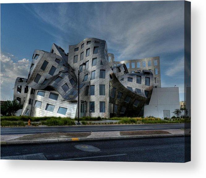 Lou Ruvo Center For Brain Health Acrylic Print featuring the photograph Las Vegas 053 by Lance Vaughn