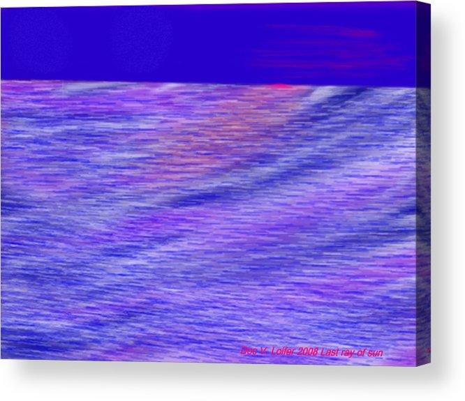 Sky.stars.sea.reflection.waves.evening.rest.silence. Acrylic Print featuring the digital art Last Ray Of Sun by Dr Loifer Vladimir