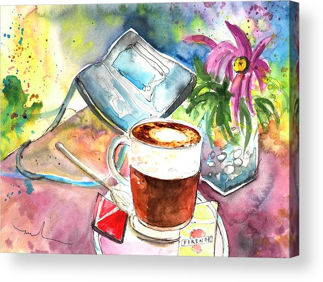 Impressionism Acrylic Print featuring the painting Latte Macchiato In Italy 01 by Miki De Goodaboom