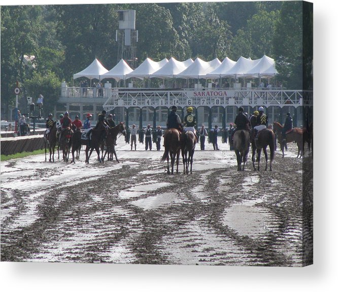 New York Acrylic Print featuring the photograph Lazy Saratoga Afternoon by Jeff Watts