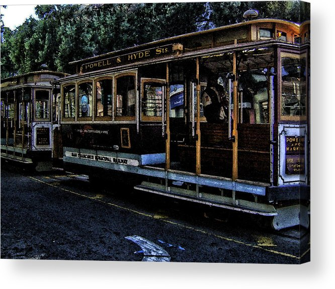 Cable Cars Acrylic Print featuring the photograph Let's Ride by Tricia Marchlik