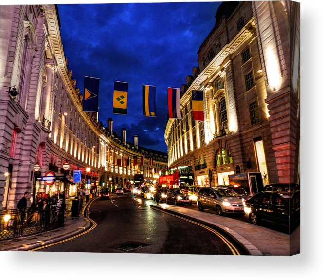 Piccadilly Circus Acrylic Print featuring the photograph London 022 by Lance Vaughn