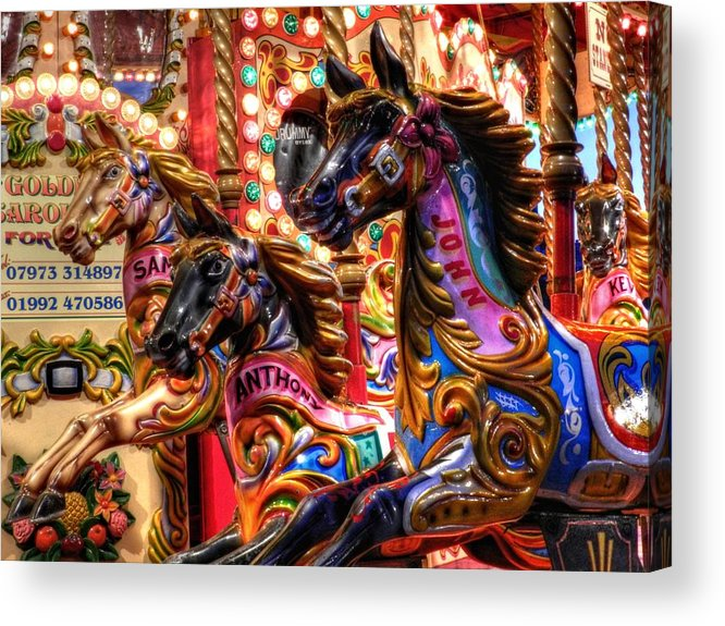 Carousel Acrylic Print featuring the photograph London 107 by Lance Vaughn