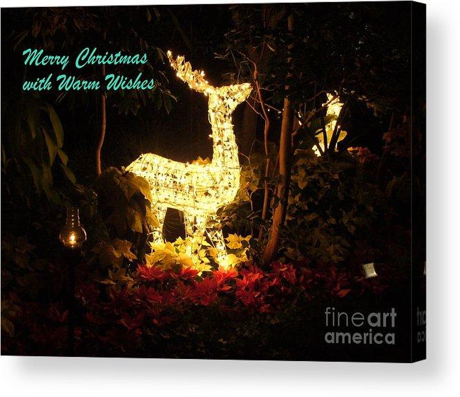Christmas Light Display Acrylic Print featuring the photograph Magical Christmas by Lingfai Leung