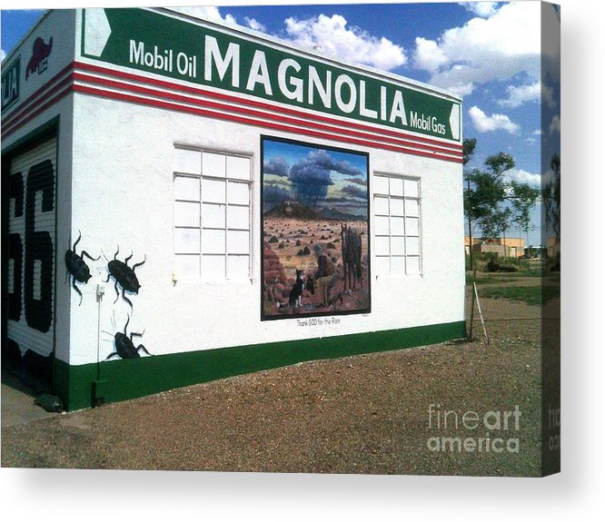 Acrylic Print featuring the photograph Magnolia Mobil Gas by Kelly Awad