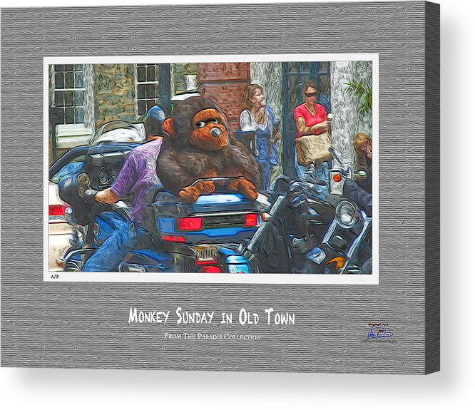 Old Town Alexandria Acrylic Print featuring the digital art Monkey Sunday In Old Town by Joe Paradis