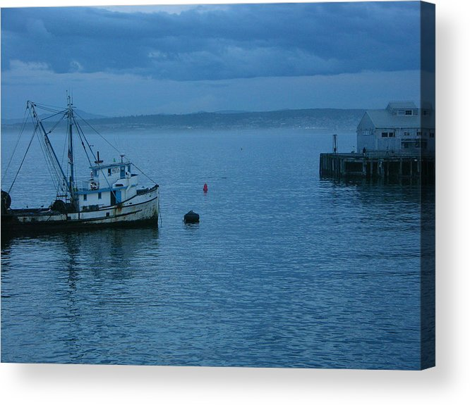 Tugboat Acrylic Print featuring the photograph Monterey Tug by Karen Lambert