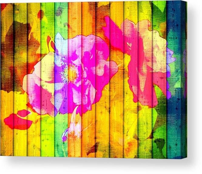 Portrait Acrylic Print featuring the digital art Mosaic by Kilmeny Boates