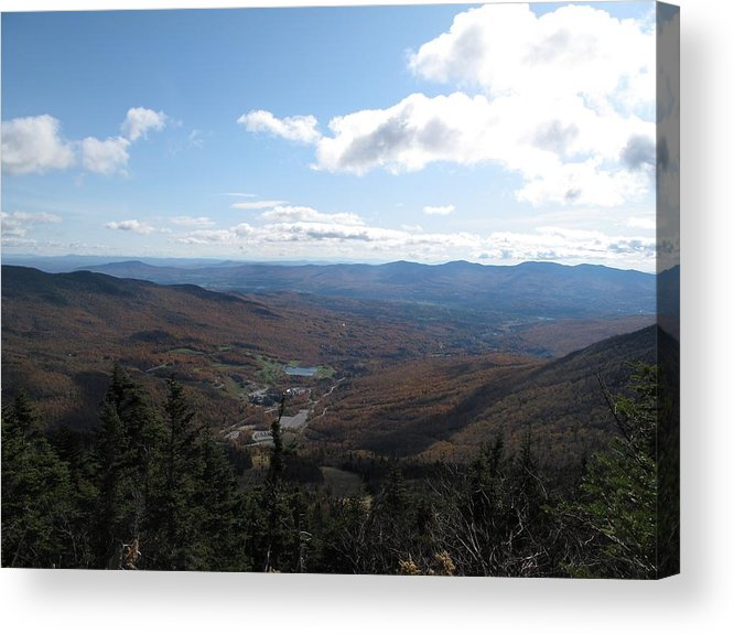 Mountain Acrylic Print featuring the photograph Mt Mansfield Looking East by Barbara McDevitt