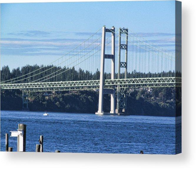 Tacoma Acrylic Print featuring the photograph Narrows Bridge IIi by Ron Roberts