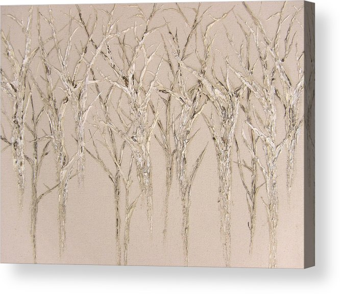 Trees Acrylic Print featuring the painting Natural by Kim Wild