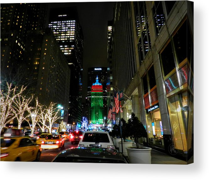 New York City Acrylic Print featuring the photograph New York City - Park Ave. 001 by Lance Vaughn