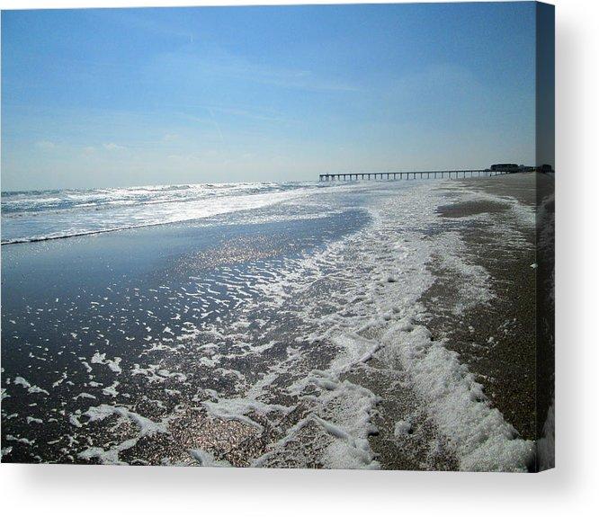Ocean Acrylic Print featuring the photograph Ocean Foam by Silvie Kendall