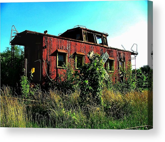 Caboose Acrylic Print featuring the photograph Old Caboose by Julie Dant