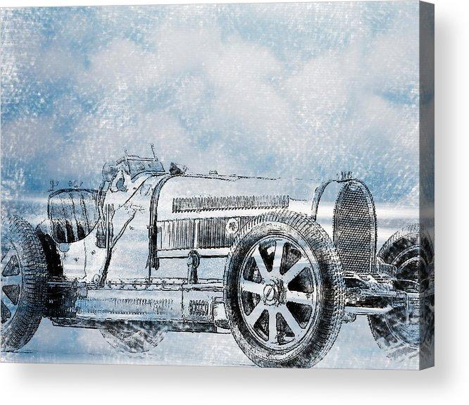 Car Acrylic Print featuring the digital art Old Sport Car by Yury Malkov