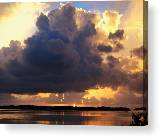 Sunset Acrylic Print featuring the photograph Ominous Cloud At Sunset by Jim Rabenstine