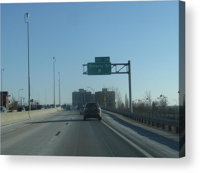 Driving Acrylic Print featuring the photograph Ontario St Exit by William William