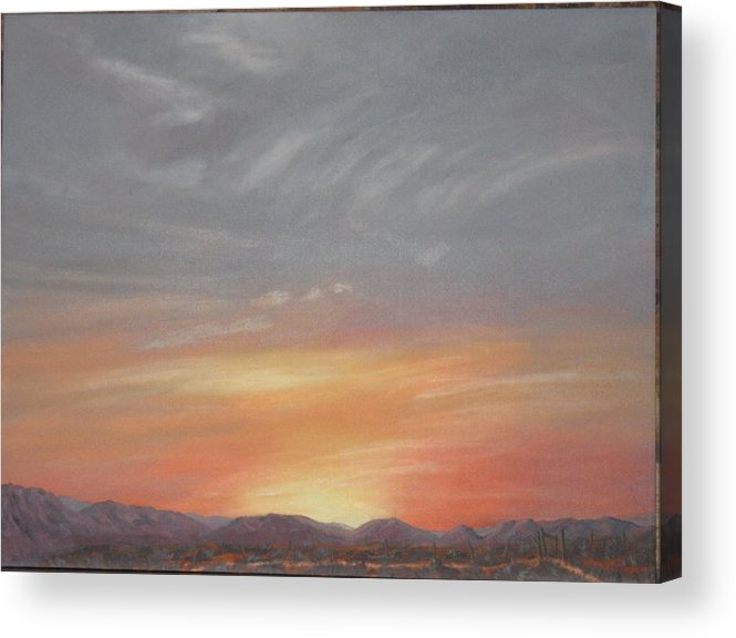 Western Acrylic Print featuring the painting Open To All by Janis Mock-Jones