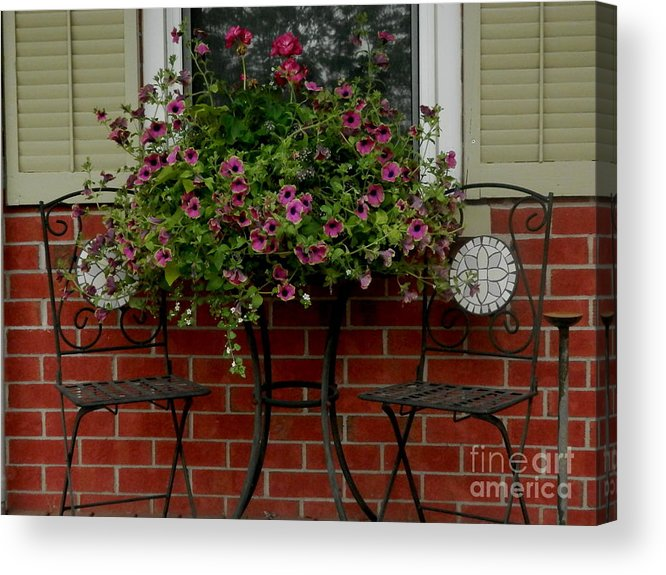 Centerpiece Acrylic Print featuring the photograph Out On The Porch by Margaret McDermott