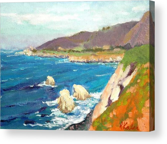 Acrylic Print featuring the painting Pacific Coast by Raymond Kaler