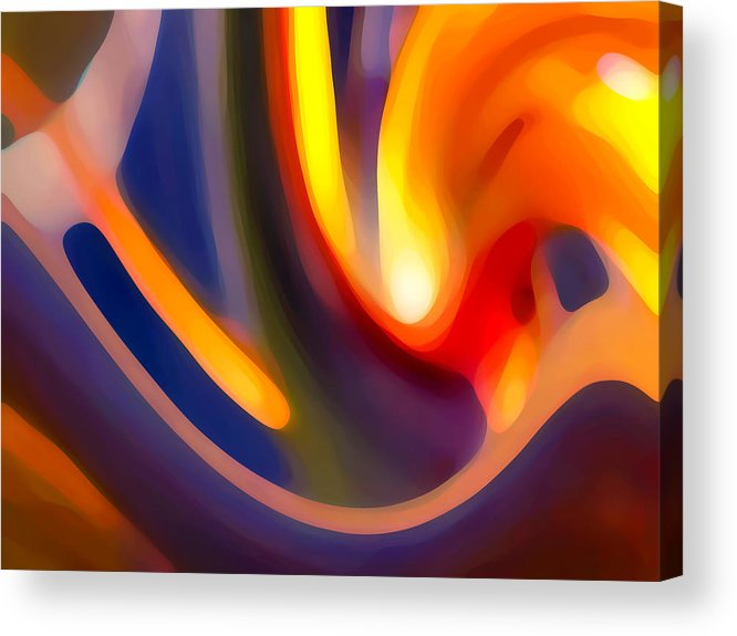 Abstract Art Acrylic Print featuring the photograph Paradise Creation by Amy Vangsgard