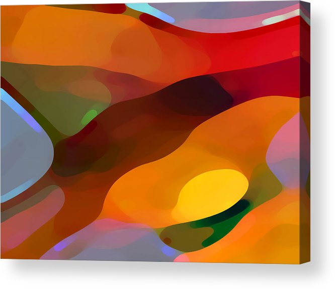 Abstract Acrylic Print featuring the painting Paradise Found by Amy Vangsgard
