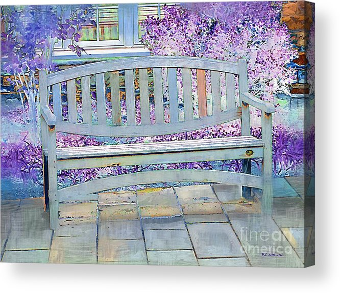 Landscape Acrylic Print featuring the painting Pastel Patio by RC DeWinter