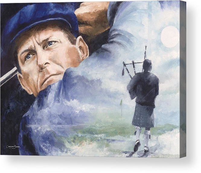 Payne Acrylic Print featuring the painting Payne Stewart by Christiaan Bekker