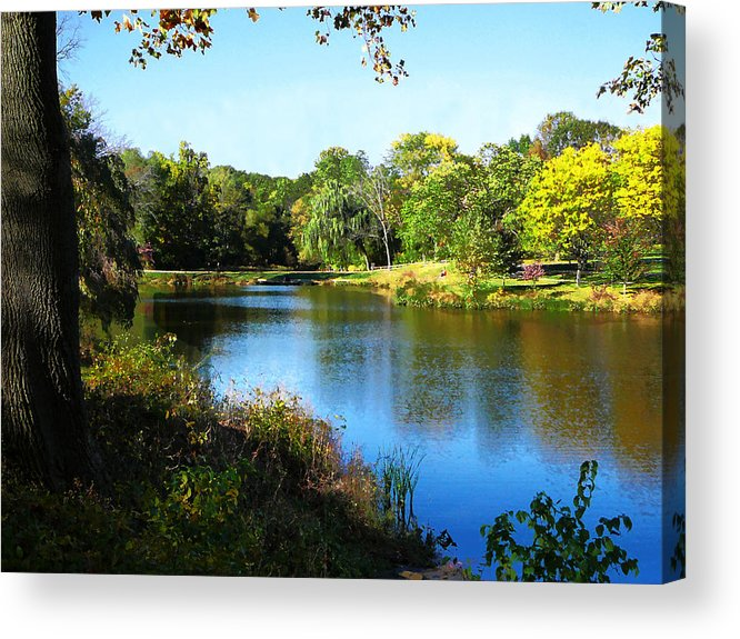 Summer Acrylic Print featuring the photograph Peaceful Lake by Susan Savad