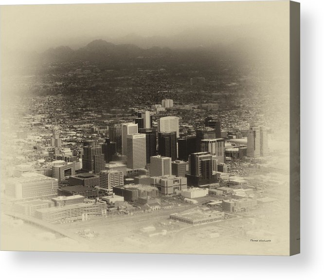 Phoenix Acrylic Print featuring the photograph Phoenix Az Downtown 2014 Heirloom by Thomas Woolworth