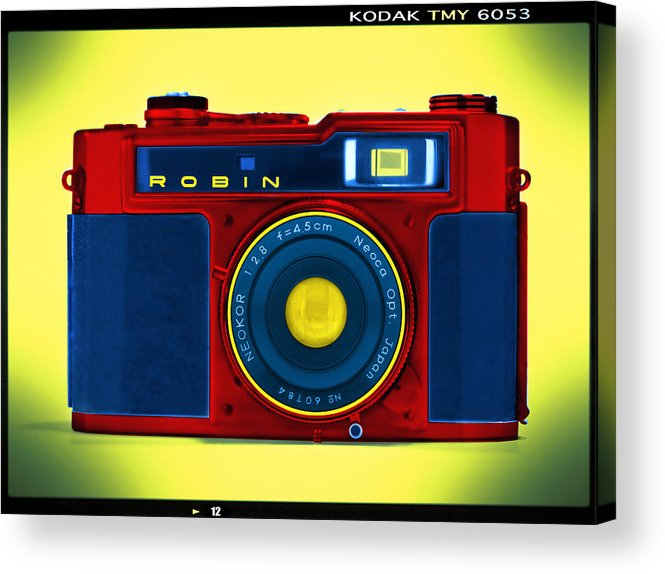 Pop Art Acrylic Print featuring the photograph Pop Art Robin by Mike McGlothlen