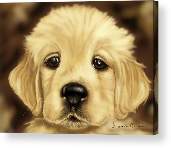 Dog Acrylic Print featuring the painting Puppy by Veronica Minozzi