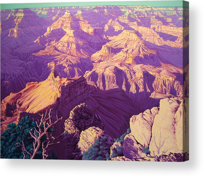 Arizona Acrylic Print featuring the painting Purple Splendor by Cheryl Fecht