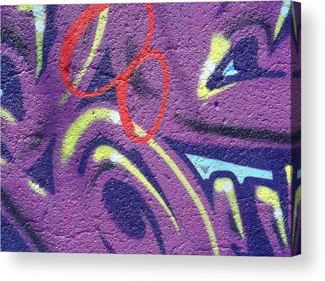 Graffiti Acrylic Print featuring the photograph Red 8 by Anne Cameron Cutri