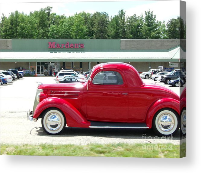 Cars Acrylic Print featuring the photograph Red Beauty by Kristine Bailey