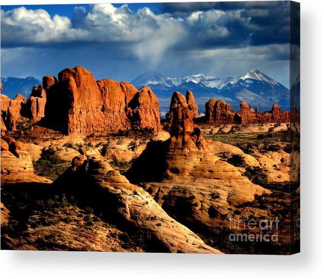 Mountains Acrylic Print featuring the photograph Red Rocks by Irina Hays